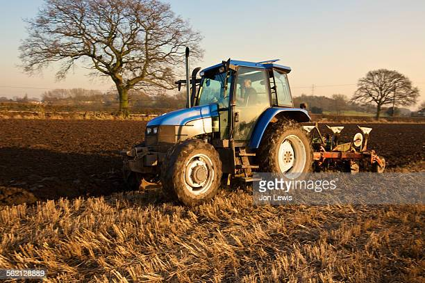 Ploughing in Stubble