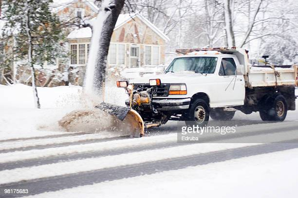 plow that snow - snowplow stock pictures, royalty-free photos & images