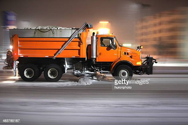 plow truck - snowplow stock pictures, royalty-free photos & images