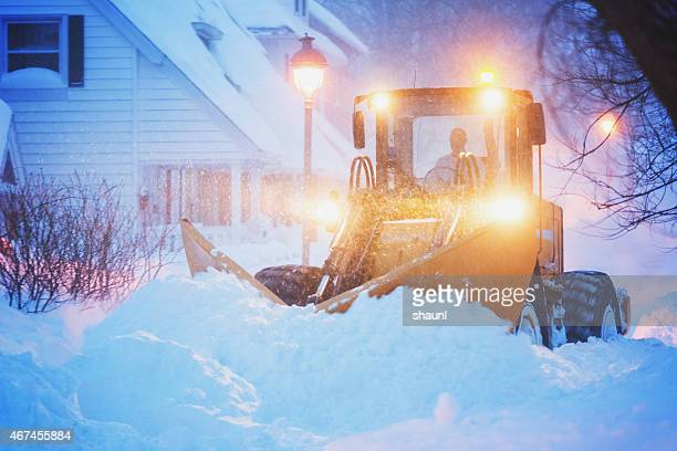 plowing a city street - absence stock pictures, royalty-free photos & images