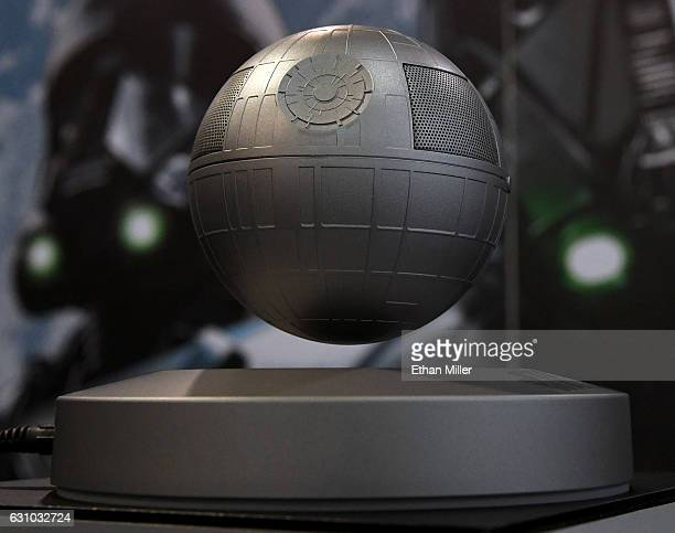 Plox's Star Wars Death Star Levitating Bluetooth Speaker is displayed at CES 2017 at the Sands Expo and Convention Center on January 5 2017 in Las...