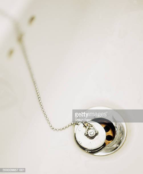 Plug in sink, close-up