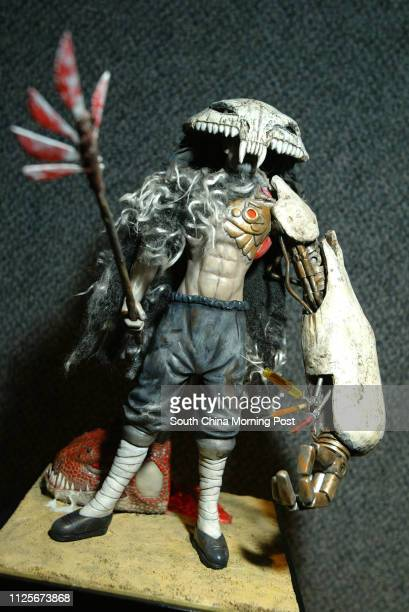 """Plugin Hollywood exhibition at Hong Kong Exhibition Centre in Wan Chai. Jason Siu.'s """"Ash of Time"""" action figure. 11 April 2004"""