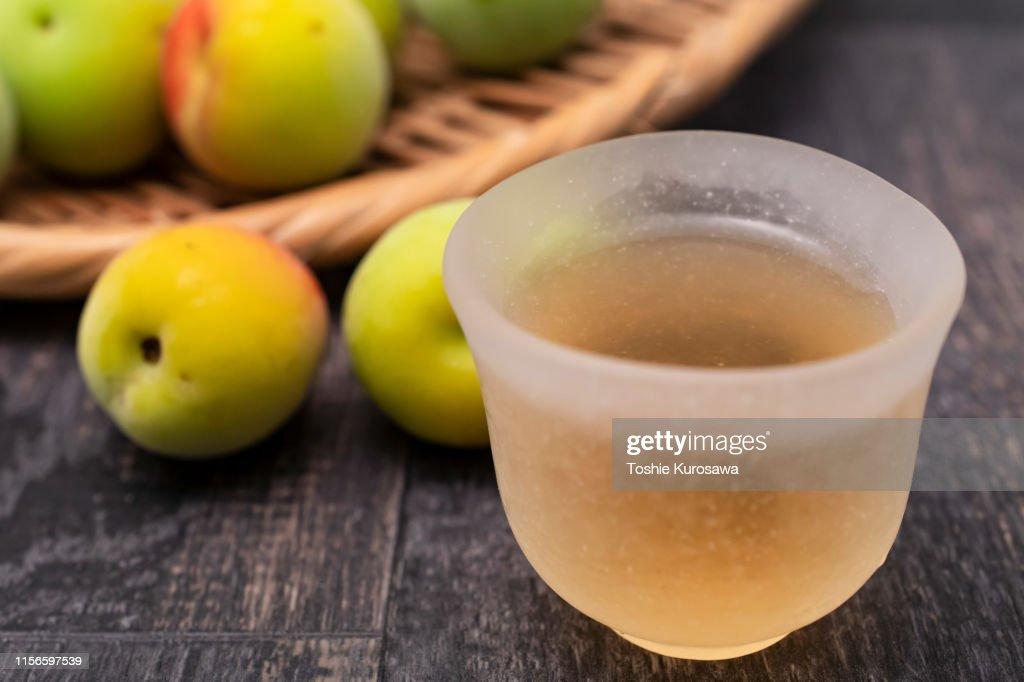 Plum liquor : Stock Photo