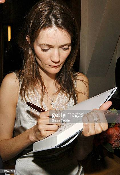 "Plum Sykes attends Plum Sykes ""Bergdorf Blondes"" book launch party April 13, 2004 in New York, New York."