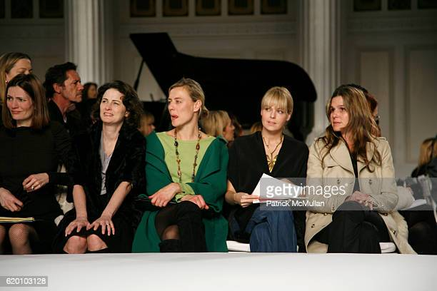 Plum Sykes Marina Rust Connor Renee Rockefeller Lauren Dupont and Aerin Lauder attend OSCAR DE LA RENTA Fall 2008 Fashion Show at 583 Park Ave on...