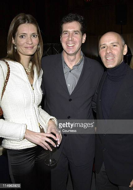 Plum Sykes Mark Fatanga and David Kuhn during Peter Bart's Dangerous Company Book Release Party at Four Seasons Hotel in New York New York United...