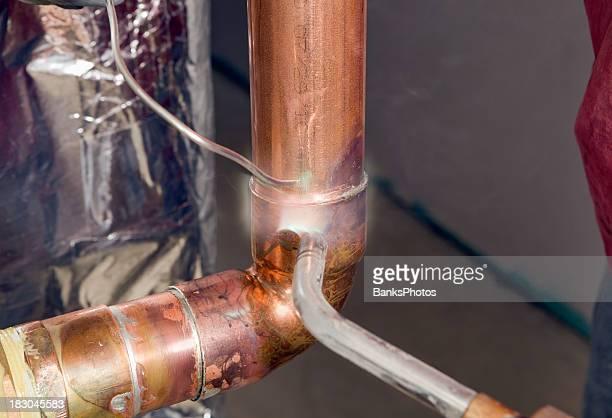 Plombier la transpiration Coupe coude en cuivre