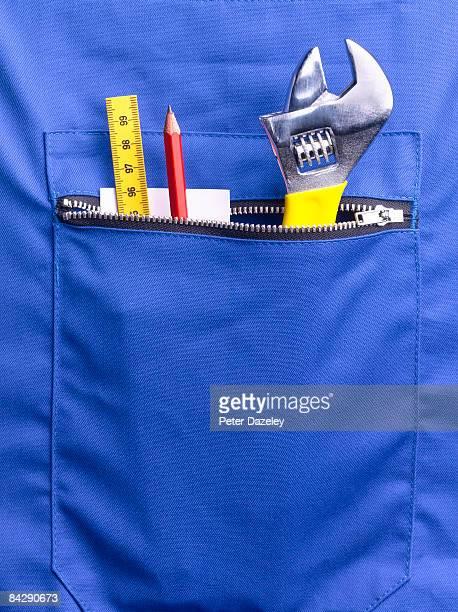 Plumber's pocket