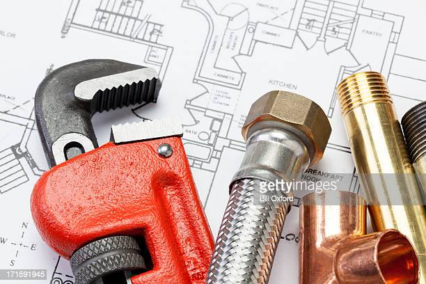 plumber's tools - installing stock pictures, royalty-free photos & images
