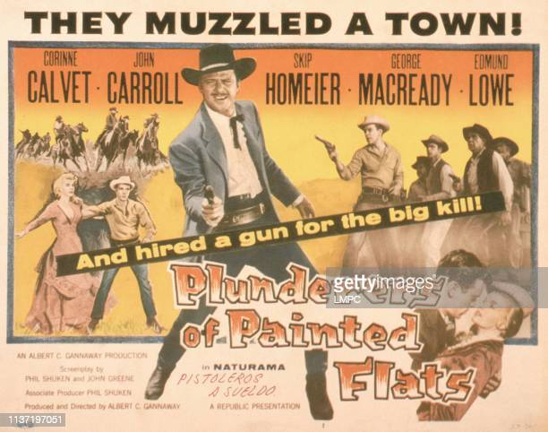 Plunderers Of Painted Flats poster US poster John Carroll bottom from left Skip Homeier Corinne Calvet 1959
