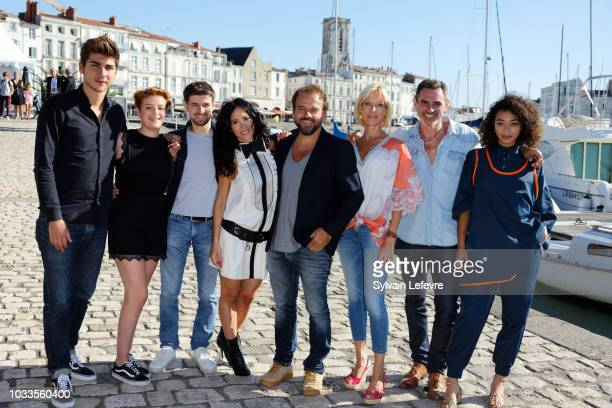 Plus belle la vie TV fiction team poses during day 4 photocall of 20th Festival of TV Fiction on September 15 2018 in La Rochelle France