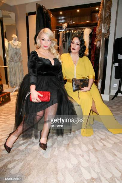 Plus size model and Presenter Caterina Pogorzelski and Miyabi Kawai during the Ritz Carlton Berlin ReOpening Party at Ritz Carlton on March 5 2019 in...