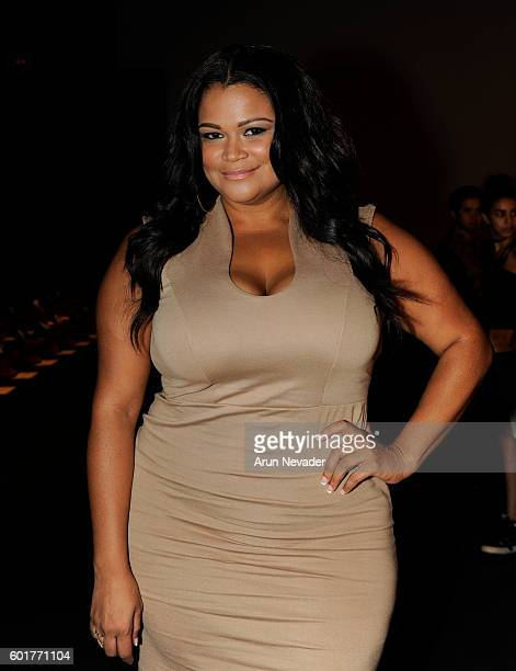 Plus size model/entertainment personality Christina Mendez appears at the Yandycom Halloween 2016 Front Row at Pier 59 Studios on Friday September 9...