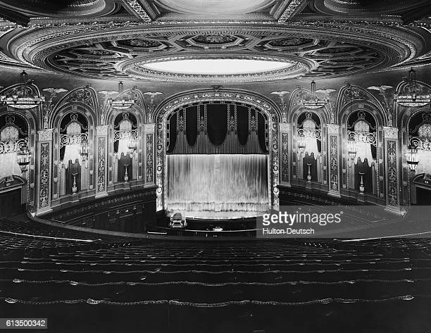 Plush interior of Trocadero cinema in London the largest cinema in Europe at the time of its opening in December 1930