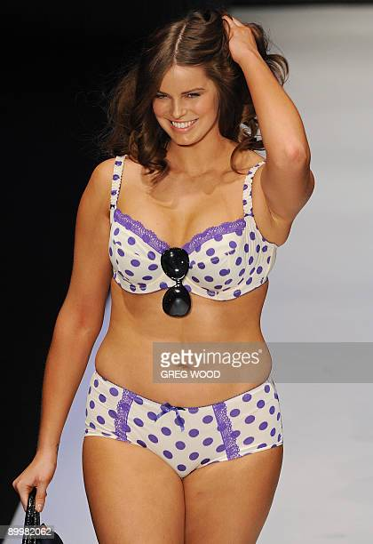 A plussize model parades a design from the Rio label during the 'Hot in the City' Intimates show at the Sydney Fashion Festival on August 21 2009 The...