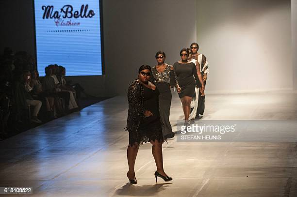 Plussize models display creations by designer Osa Aisien from MaBello Clothier the first solely Nigerian brand catering for women with curves at the...