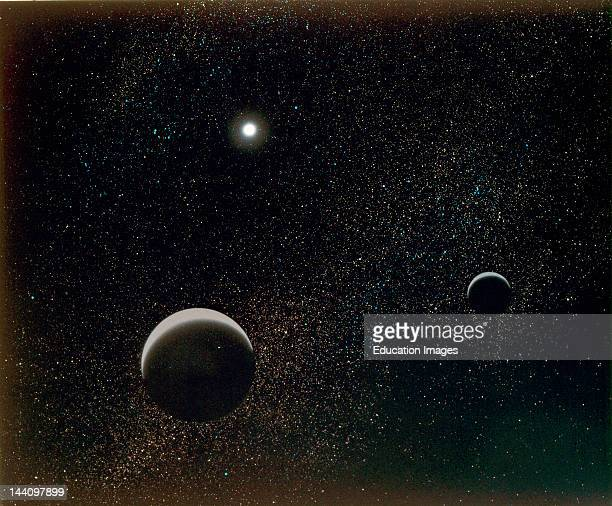Pluto Its Moon Charon X Artist'S View