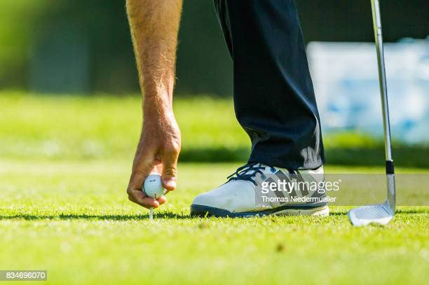 A plyer place his ball during day two of the Saltire Energy Paul Lawrie Matchplay at Golf Resort Bad Griesbach on August 18 2017 in Passau Germany