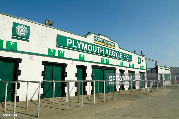 plymouth argyle football club - plymouth stock photos and pictures