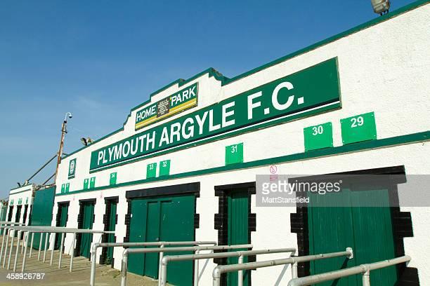 plymouth argyle football club - club football stockfoto's en -beelden