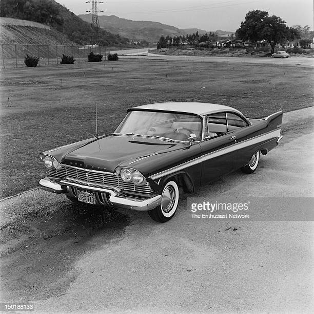 Plymouth Belvedere Road Test Burning rubber on the street as Hot Rod tests the Power Pack engine with 4barrel carburetor From May 1957 issue