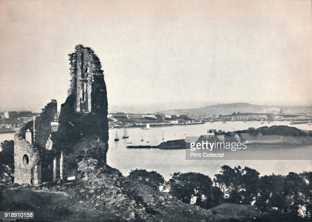 'Plymouth - Drake's Island, from Mount Edgcumbe', 1895. From Round the Coast. [George Newnes Limited, London, 1895]Artist Unknown.