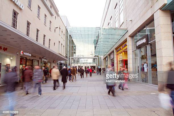 plymouth high street - plymouth stock photos and pictures