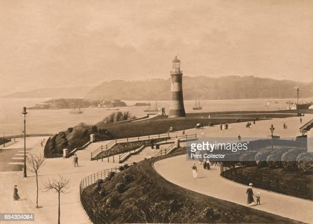 Plymouth Hoe and Sound and Mouth of the Tamar 1902 From Rivers of Great Britain Descriptive Historical Pictorial [Cassell and Company Ltd London...