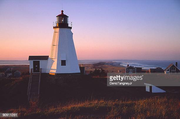 plymouth lighthouse - plymouth massachusetts stock photos and pictures
