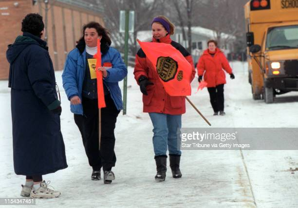 Plymouth MN Scenes at Pilgrim Lane Elementary School as the school day begins on Day 2 of the strike by busdrivers and maintenance workers School was...