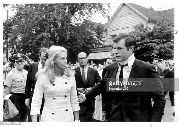 Joan and Senator Ted Kennedy on July 22 as they arrive at the St Vincent's RC Church Pymouth Pennsylvania for the mass for Mary Jo Kopechne who was...
