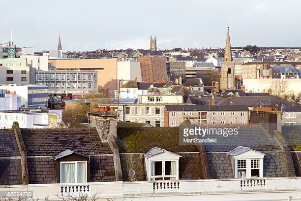 plymouth skyline - plymouth stock photos and pictures