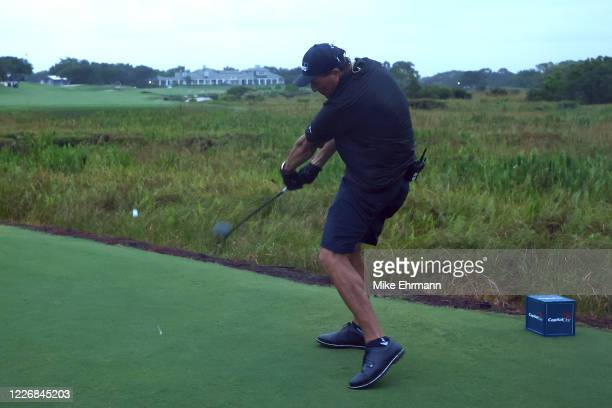 Pm during The Match: Champions For Charity at Medalist Golf Club on May 24, 2020 in Hobe Sound, Florida.