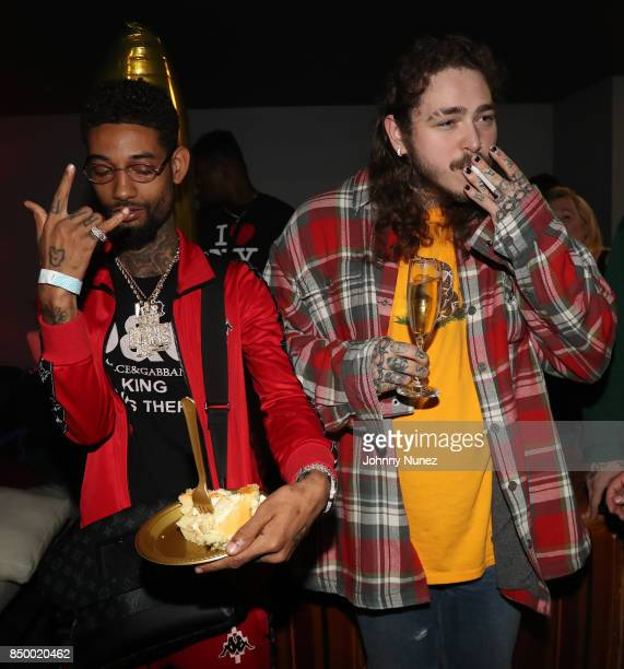 PnB Rock and Post Malone Attend Post Malone In Concert at PlayStation Theater on September 19 2017 in New York City