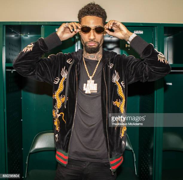 PnB Rock backstage at University of Miami on August 10 2017 in Miami Florida
