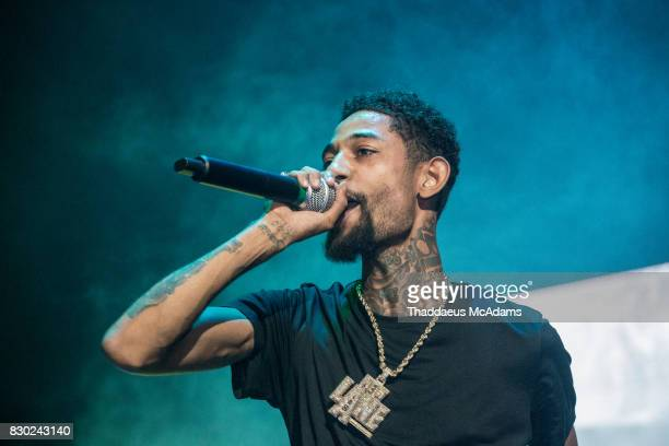 PnB Rock performs at University of Miami on August 10 2017 in Miami Florida