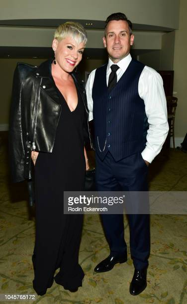 Pnk and Carey Hart attend the 2018 Autism Speaks 'Into The Blue' Gala at Beverly Hills Hotel on October 4 2018 in Beverly Hills California
