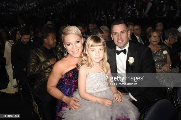 Pnk at THE 60TH ANNUAL GRAMMY AWARDS broadcast live on both coasts from New York Citys Madison Square Garden on Sunday Jan 28 at a new time 7301100...