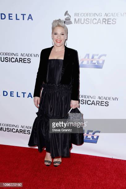 Pnk attends MusiCares Person of the Year honoring Dolly Parton at Los Angeles Convention Center on February 8 2019 in Los Angeles California