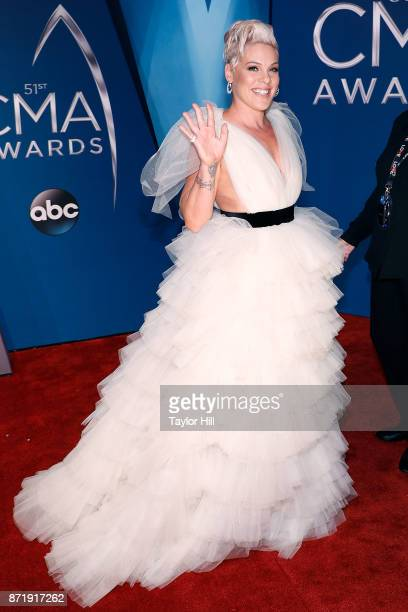 Pnk attends the 51st annual CMA Awards at the Bridgestone Arena on November 8 2017 in Nashville Tennessee
