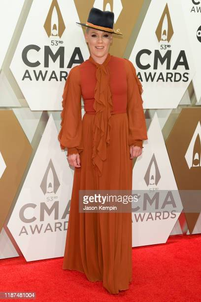 Nk attends the 53rd annual CMA Awards at the Music City Center on November 13, 2019 in Nashville, Tennessee.