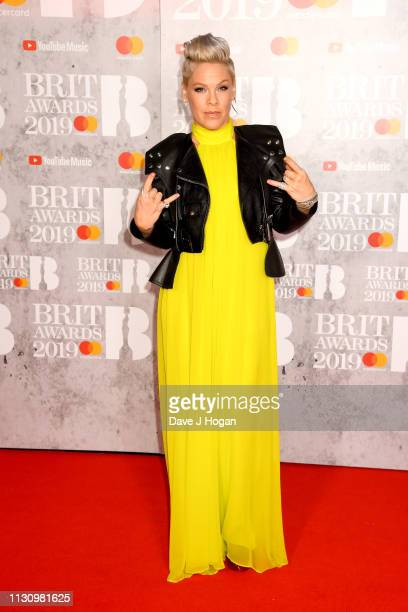 Pnk attends The BRIT Awards 2019 held at The O2 Arena on February 20 2019 in London England