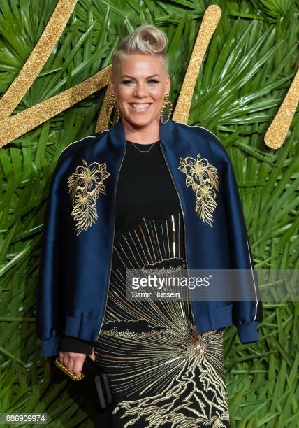 Pnk attends The Fashion Awards 2017 in partnership with Swarovski at Royal Albert Hall on December 4 2017 in London England