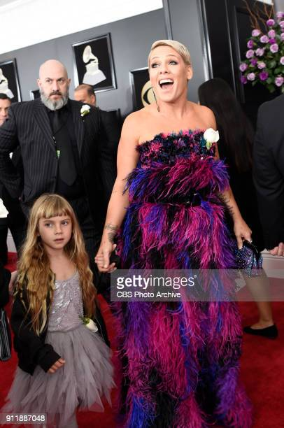 Pnk on the red carpet at THE 60TH ANNUAL GRAMMY AWARDS broadcast live on both coasts from New York City's Madison Square Garden on Sunday Jan 28 at a...