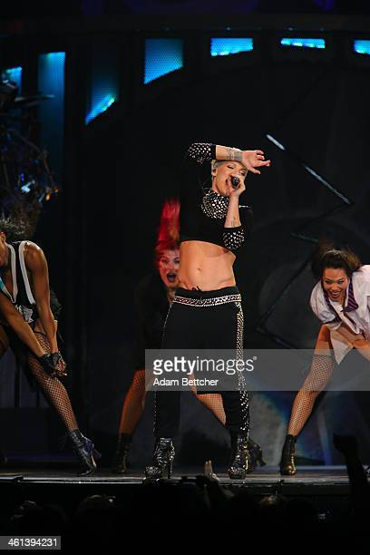 Pnk performs at Target Center on January 7 2014 in Minneapolis Minnesota