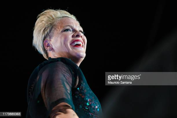 Nk performs live on stage during day 6 of Rock In Rio Music Festival at Cidade do Rock on October 5, 2019 in Rio de Janeiro, Brazil.