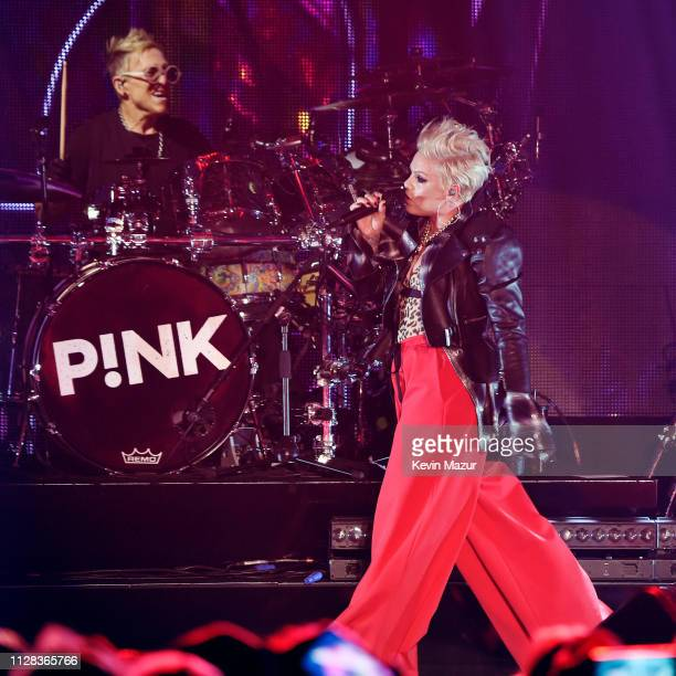 Pnk performs onstage during Citi Sound Vault Presents Pink at Hollywood Palladium on February 07 2019 in Los Angeles California