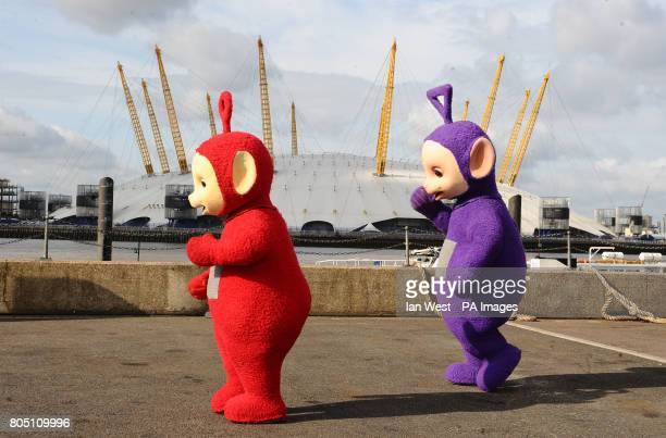Po and Tinky Winky of the Teletubbies close to the O2 Arena LondonThe childrens characters could fill some of the dates left vacant by the death of...