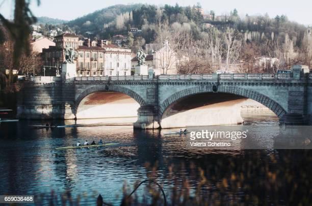 Po River,Umberto I bridge, Turin, Piedmont, Italy, Europe